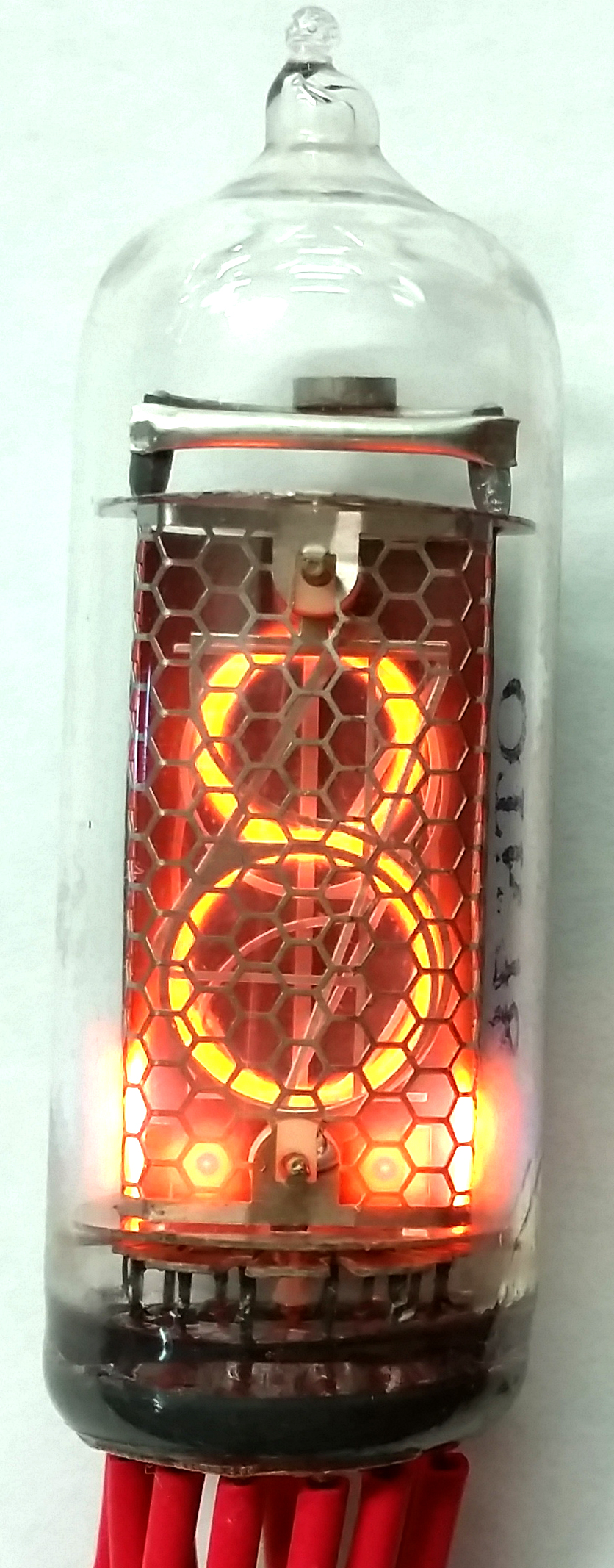 IN 14 Nixie Tube Cold Cathode Display Single Digit 0 To 9 Vertical Mount