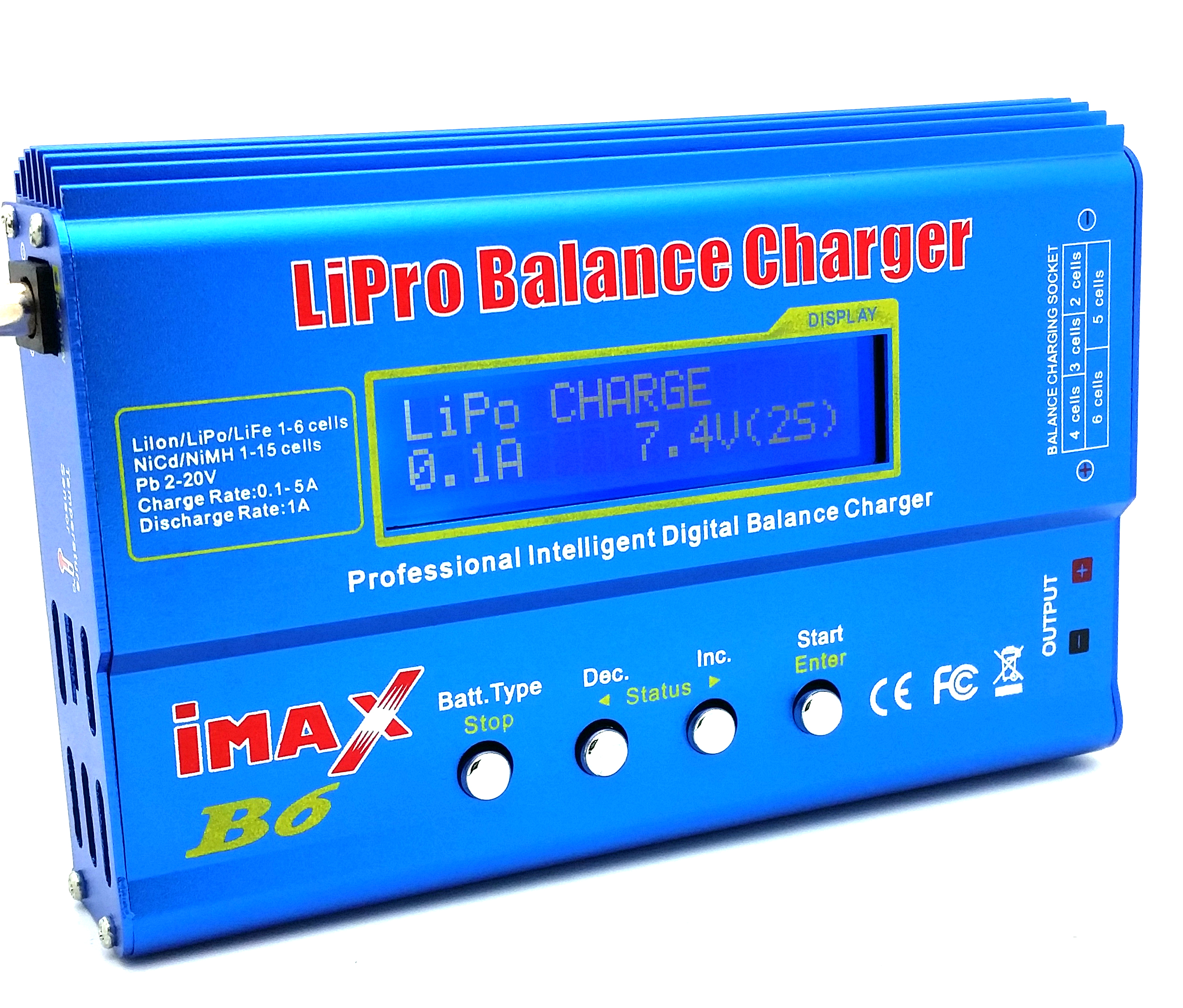 Velleman VLE8 - Advanced Li-Po/Li-Ion Charger (lipo / liion)