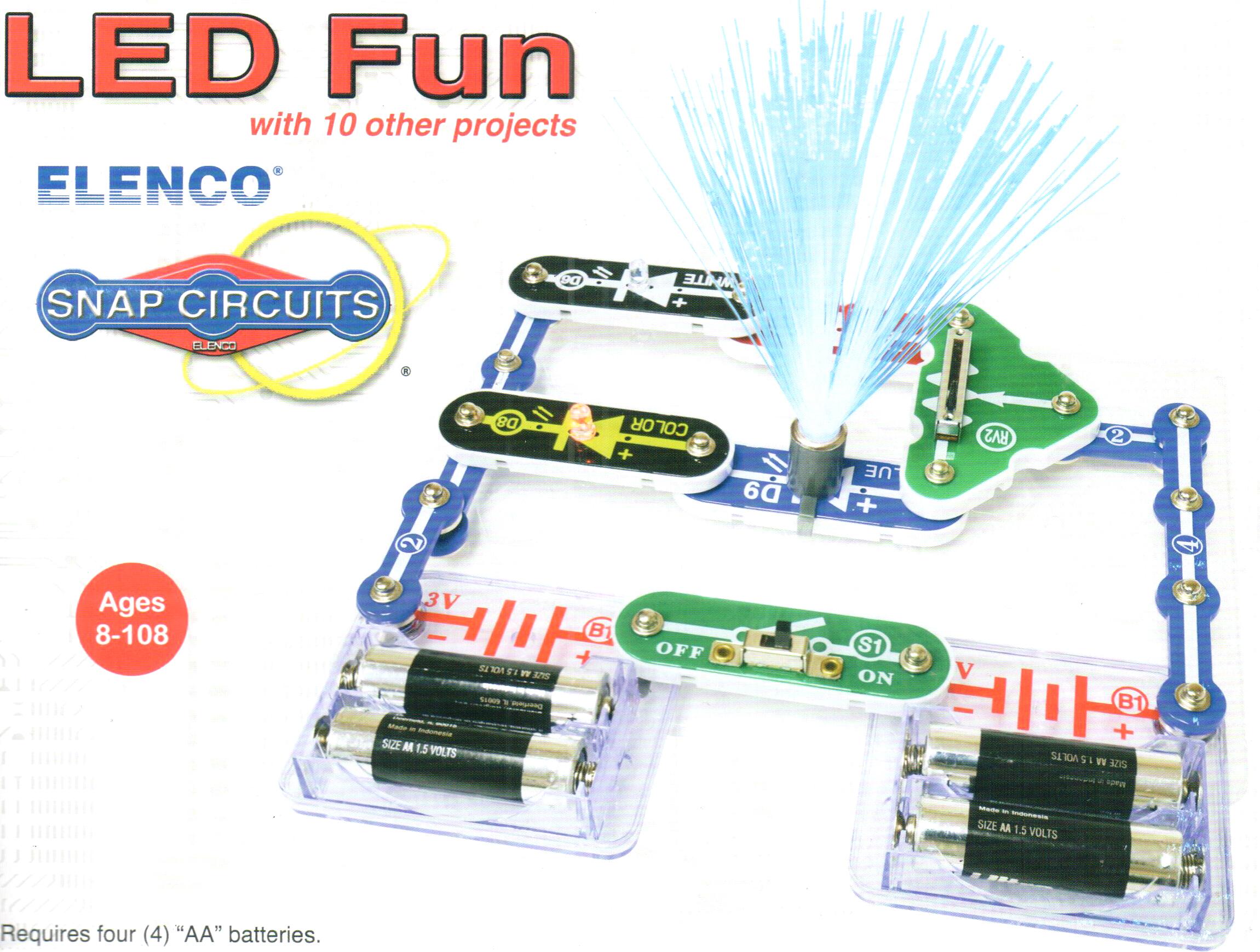 Snap Circuit Led Fun Kit Educational Circuits