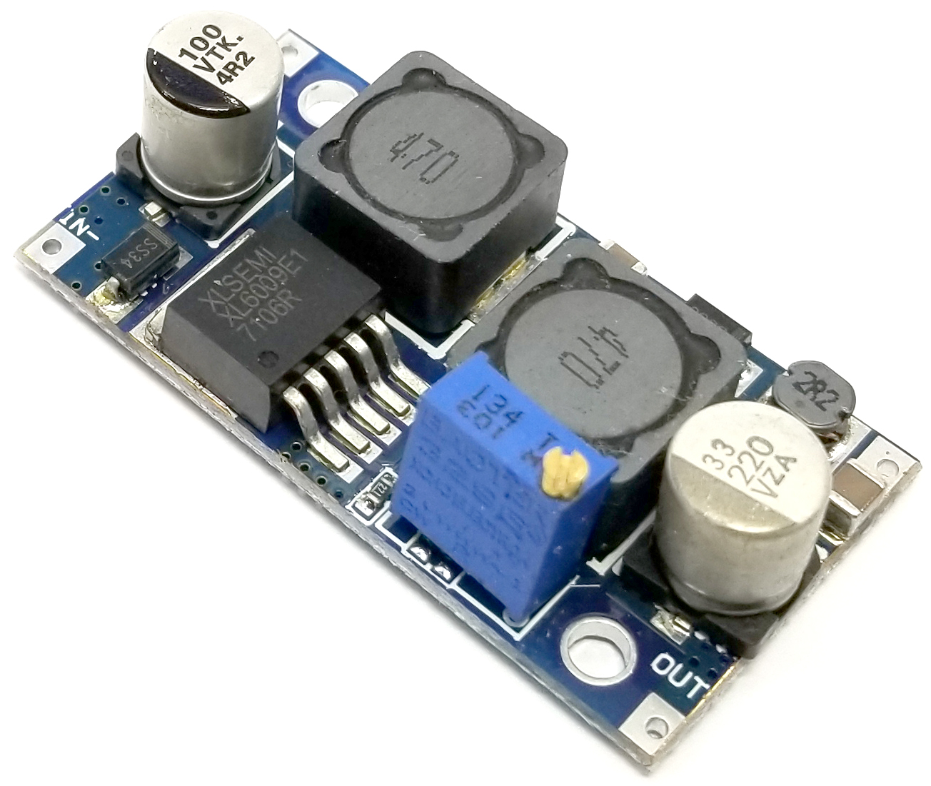 DC-DC Adjustable Step-Up Boost Module  5-35VDC Outupt @ 2A
