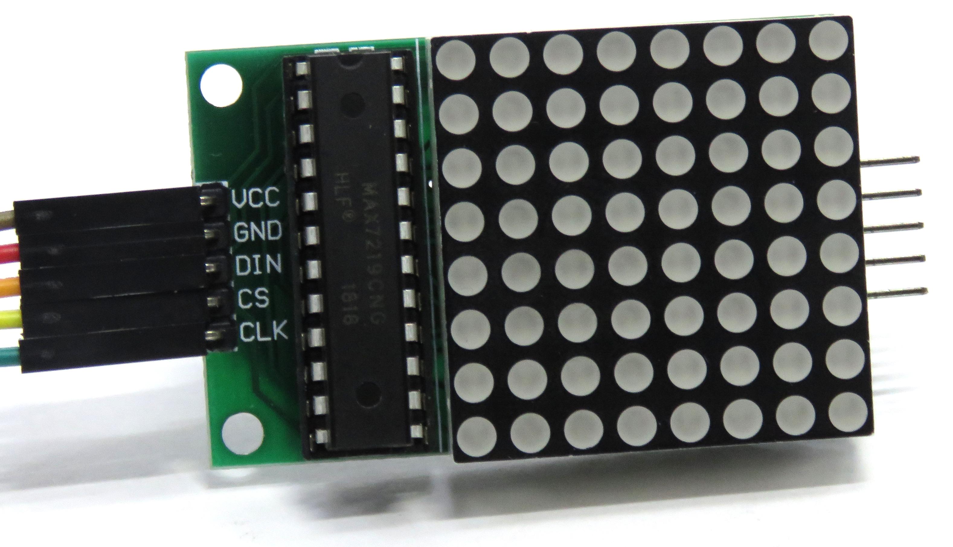 MAX7219 8x8 LED Matrix Board for Arduino